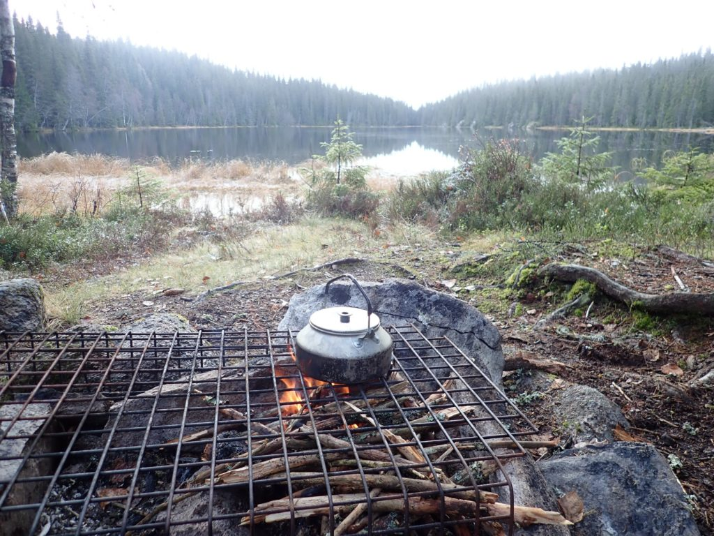 Litt rå ved brant til slutt - da ble det kaffe på morgenen